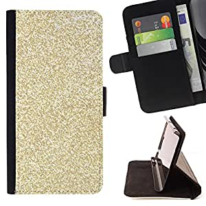 For HTC ONE A9 Gold Glitter Bling Money Rich Sparkly Style PU Leather Case Wallet Flip Stand Flap Closure Cover