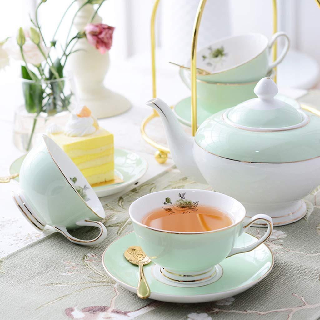 CSQ Coffee Cup Tea Set, Simple Ceramics Tea Set Meeting Room Hospitality Room Tea Set Capacity: 900ml Afternoon Tea (Color : A) by Tea set-CSQ (Image #3)