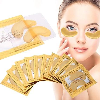10 Pcs Máscara de Ojo de Colágeno de Oro, Círculo Oscuro ...