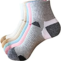 Thsbird Women's Comfort Blend Ankle Socks Casual Athletic Running Sock Pack of 5