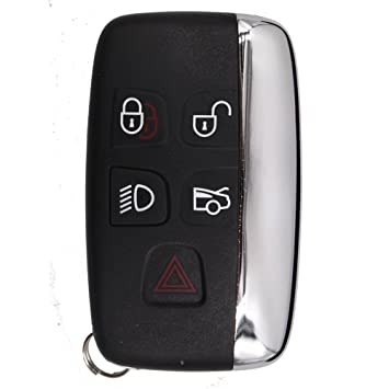 5 Button Smart Key Remote Key Shell Case Fob for JAGUAR XJ XJL XF