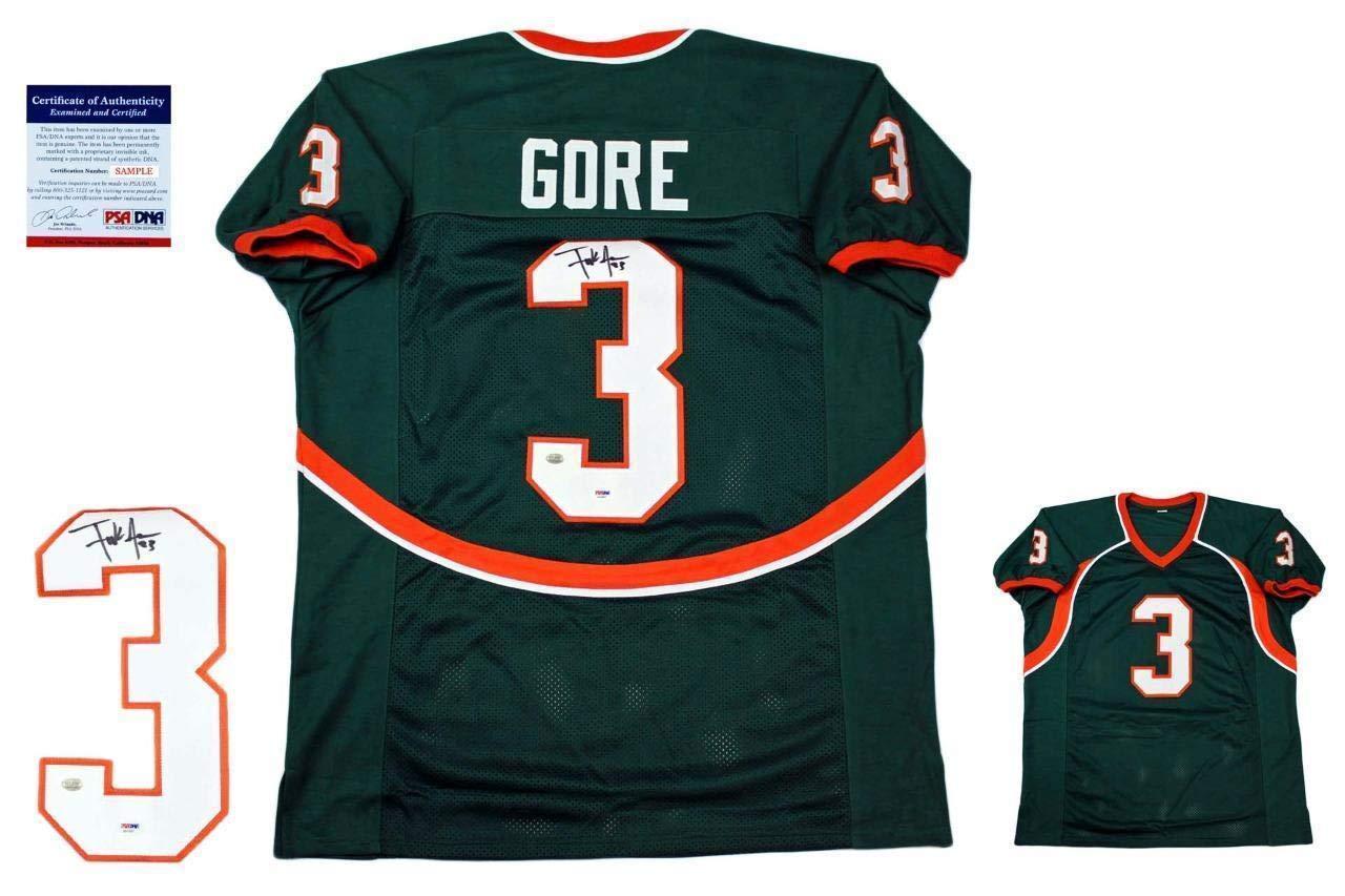 designer fashion d9d8d 77202 Autographed Frank Gore Jersey - Green - PSA/DNA Certified ...