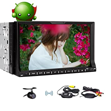 7 2 Din Car DVD Player Pure Android 4.4.4 HD Pantalla capacitiva