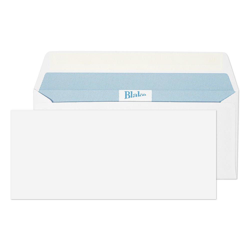 Premium Office 39215 105 x 241 mm buste con chiusura autoadesiva, con busta, colore: Bianco (confezione da 500) Blake