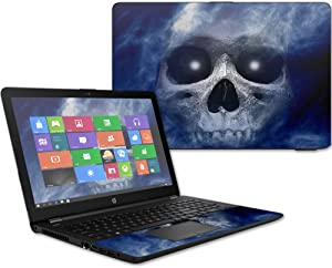 """MightySkins Skin Compatible with HP 15t Laptop 15.6"""" (2017) - Haunted Skull   Protective, Durable, and Unique Vinyl Decal wrap Cover   Easy to Apply, Remove, and Change Styles   Made in The USA"""