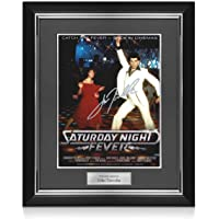John Travolta Signed Saturday Night Fever Poster. Deluxe Frame | Autographed Memorabilia