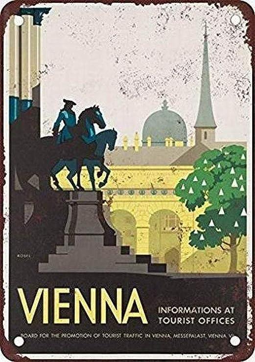 WallAdorn Viena Austria Vintage Look Cartel de Hierro ...