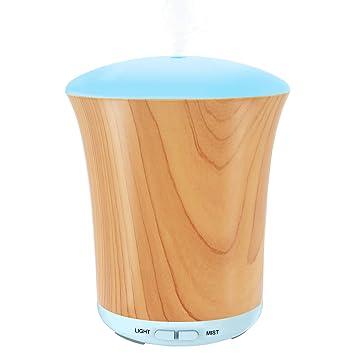 93b6f8bdf8166d LUSCREAL Diffuseur Huiles Essentielles Electrique, 200ml Diffuseur  Aromatherapie Ultrasonique Grain en Bois de avec 8