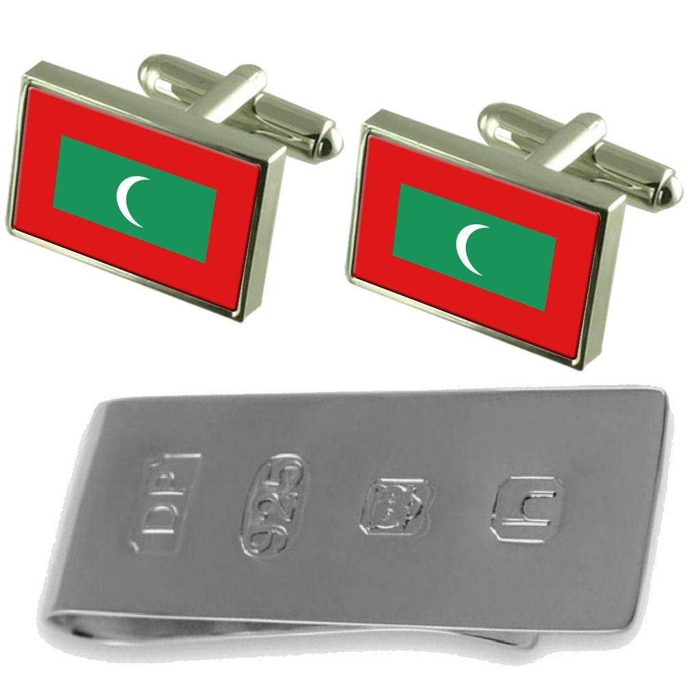 Select Gifts Maldives Flag Cufflinks /& James Bond Money Clip GS1620-WFC243