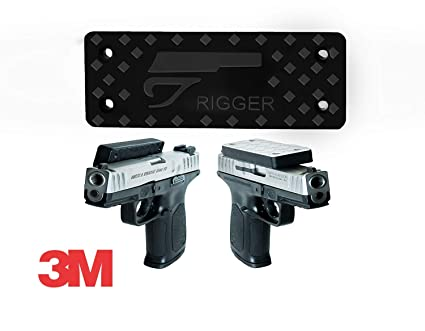 505d3ffe48eaef Gun magnet mount & holster. | 3M Tape included | Used in vehicle and home.  Military grade magnet N52 | Rated 55LBS | Concealed holder- Desk, Vault,  truck, ...