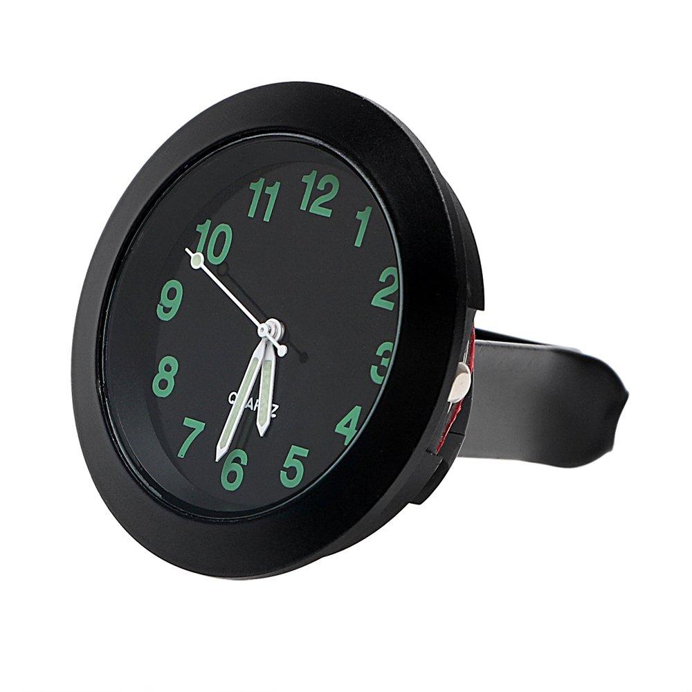 Itimo Horloge de voiture Décorations mécanique à quartz Mini Grille d'aération de voiture Clip Horloge montre Car-styling Auto Décoration (Noir)