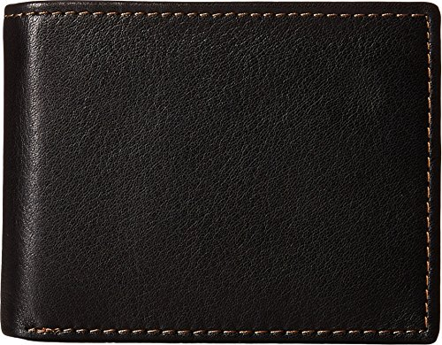 Johnston & Murphy Billfold - Johnston & Murphy Flip Bifold Wallet (Black/Tan)