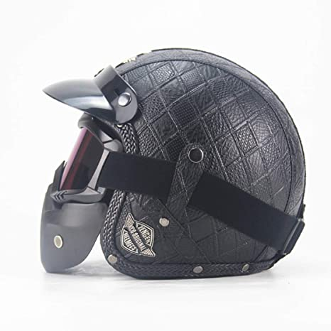 Amazon.com: Ysayc - Cascos de motocross retro de diamante ...