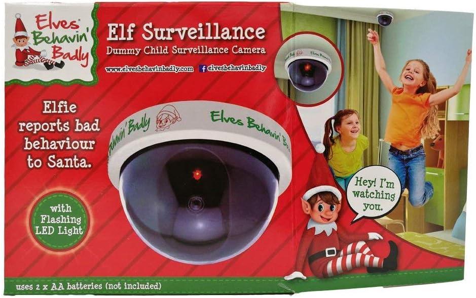 2 x ELF Santa Cam Caméra de surveillance factice pour enfants Naughty Nice liste de surveillance