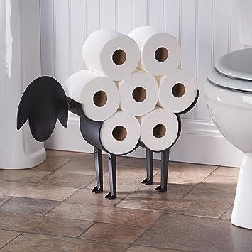 Sheep Toilet Paper Holder   Free Standing Bathroom Tissue Storage
