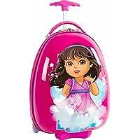 Dora Hardside Girls Egg Shaped Wheeled Rolling 18 Inch Luggage for Kids