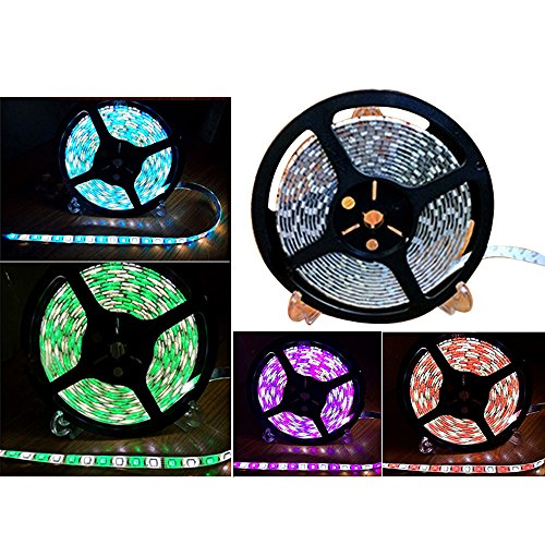 Eastlion 16.4FT 5M 5050 Non-waterproof 300 LED RGBW White Color Changing Flexible LED Strip Light
