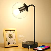 2-Pack Brightever Vintage Table Lamp w/2 USB Charging Ports