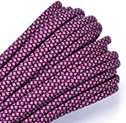 Bored Paracord - 10', 25', 50', 100' Hanks of Parachute 550 Cord Type III 7 Strand Paracord -
