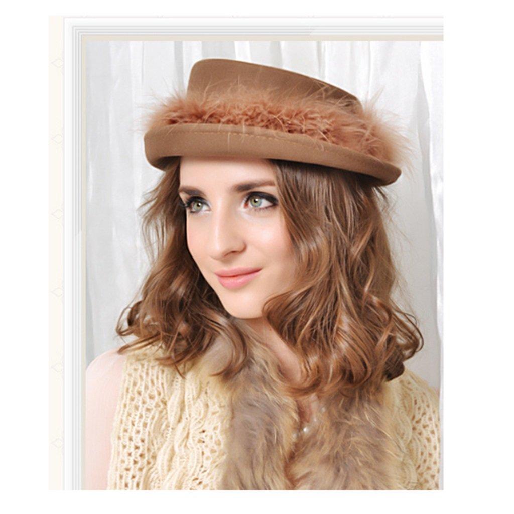 Cappello lana multicolore opzionale donna berretto da bowler stile britannico Fedora Trilby Toca Sombrero regalo di Natale