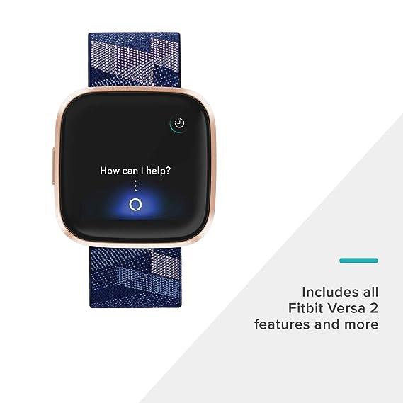 Fitbit Versa 2,Edición Especial, el smartwatch que te ayuda a mejorar la salud y la forma física, y que incorpora control por voz, puntuación del ...