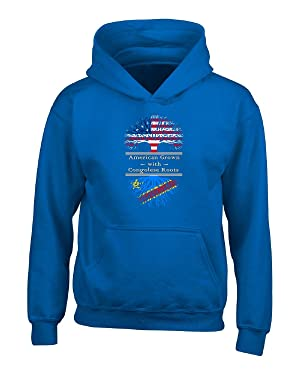 American Grown With Congolese Roots Great Congo Gifts - Adult Hoodie S Royal