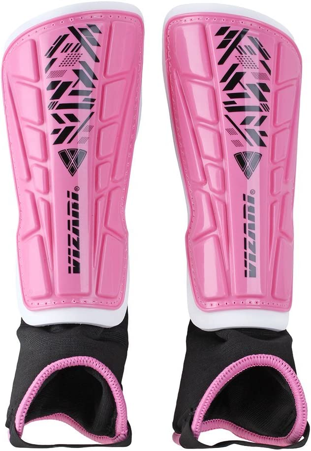 Vizari Malaga Soccer Shin Guards for Kids | Soccer Gear for Boys Girls | Protective Soccer Equipment | Adjustable Straps