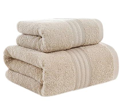 Conjunto de Toallas Suaves de Color sólido Conjunto de Toallas de baño doméstico de Dos (