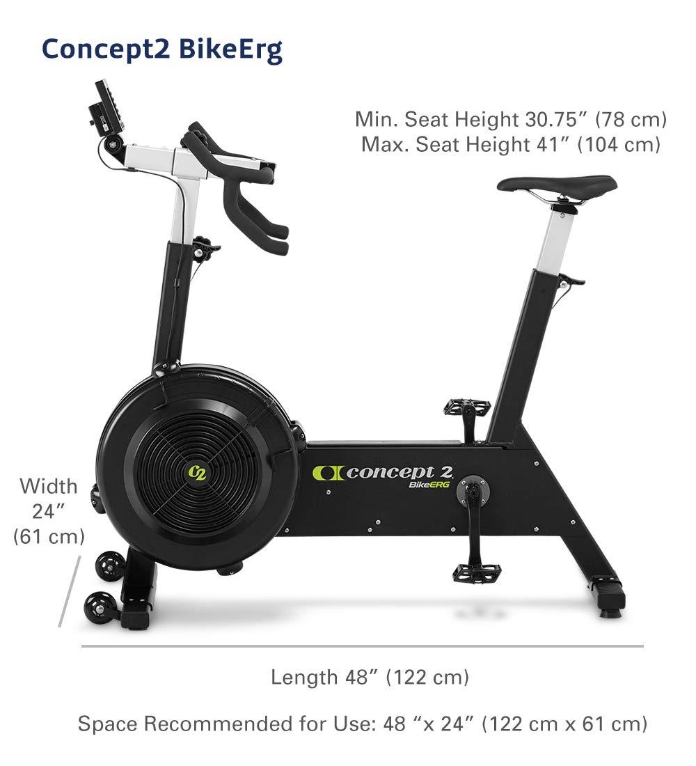 Concept2 BikeErg con Monitor PM5, Bicicleta estática de Ejercicio ...