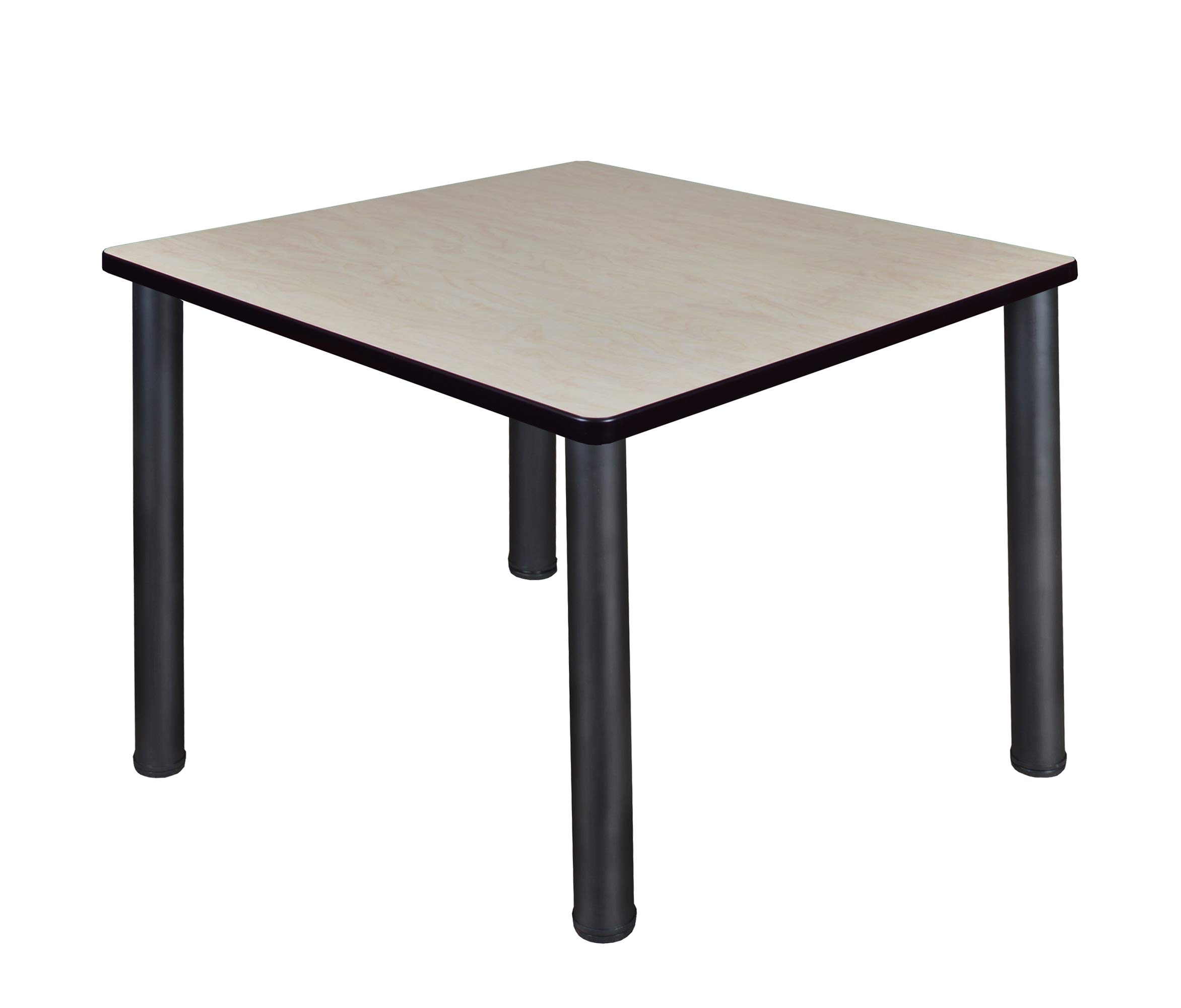 Regency A-TB3636LMBPBK Kitt Square Breakroom Table, 36'', Light Maple/Black by Regency