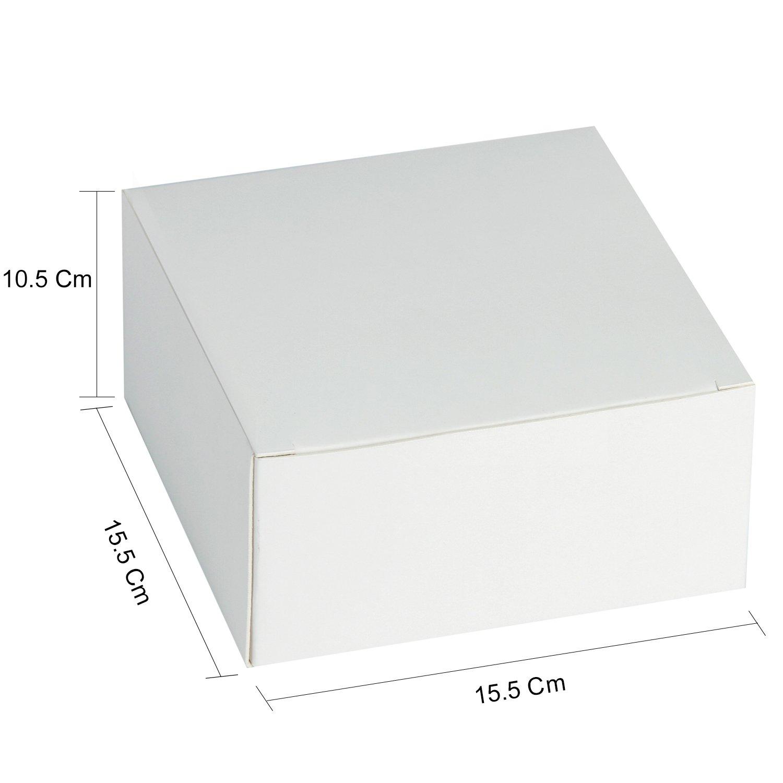 Confezione Regalo Da 30 Pezzi Con Coperchi Per Artigianato Cupcake E Biscotti RUSPEPA Scatole Regalo In Cartone 13 X 13 X 8 Cm Bianco