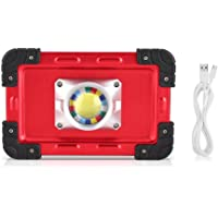 Fdit 30 W LED Luz Proyector de Exterior Luces con Soporte Magnético Luces de Seguridad de Emergencia con Puerto USB para Tienda de Camping