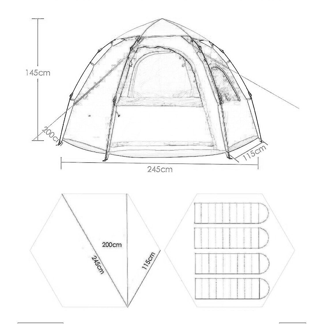 amazon sandm tent for outdoor sports c ing tent 5 6 person 4 Person Pop Tent amazon sandm tent for outdoor sports c ing tent 5 6 person 3 4 season automatic instant pop up water resistant doors on both sides with large