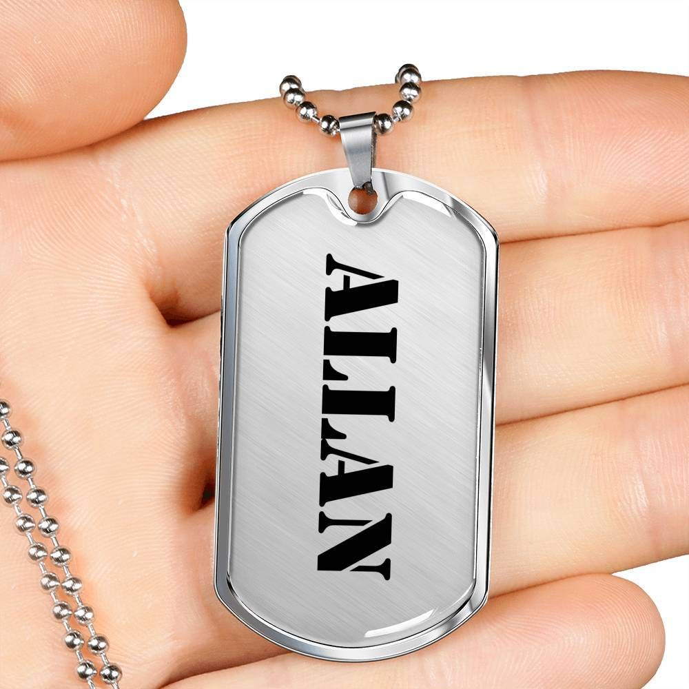 Luxury Dog Tag Necklace Personalized Name Fathers Day Birthday Gifts Jewelry Allan