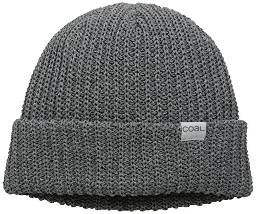(The Eddie Recycled Rib Knit Beanie Hat, Heather Grey, One Size)