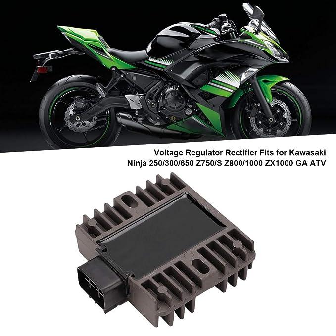 Famus Regulador de Voltaje rectificador Apto para Kawasaki ...
