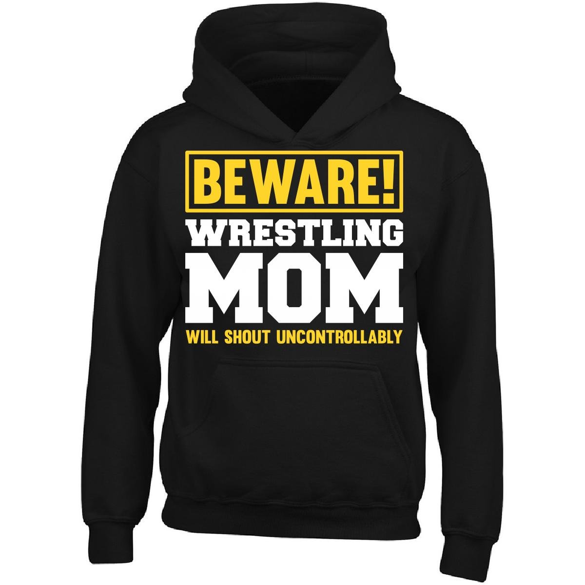 Esparosa Will Shout Uncontrollably Wrestling Mom - Adult Hoodie L Black