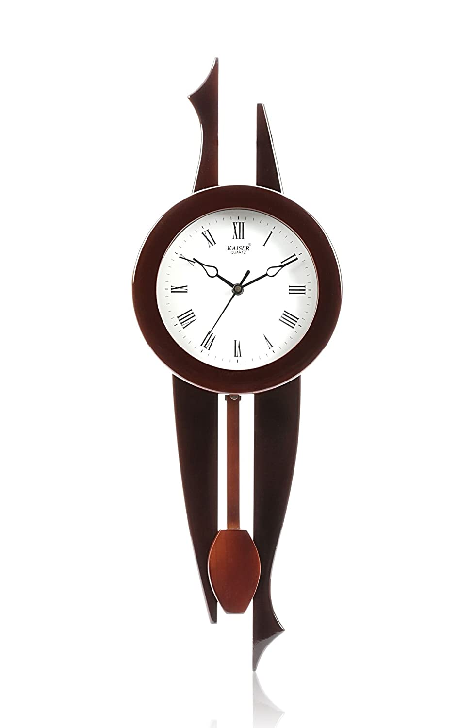 Buy kaiser wooden wall clock with pendulum 525x190x80 mm cola buy kaiser wooden wall clock with pendulum 525x190x80 mm cola online at low prices in india amazon amipublicfo Image collections