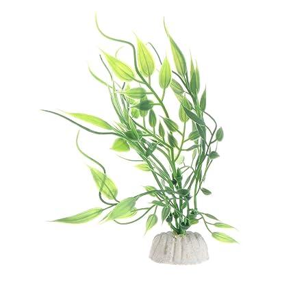 Daxibb Dabixx Plantas de Acuario Artificiales Hierba Pecera Tanque Decoración Altura Extra Diversión Akvaryum A002