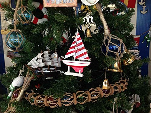 Hampton-Nautical-Red-Striped-Sailboat-Christmas-Tree-Ornament-9-Model-Boat-Nautical-Christmas-Tree-Decoration