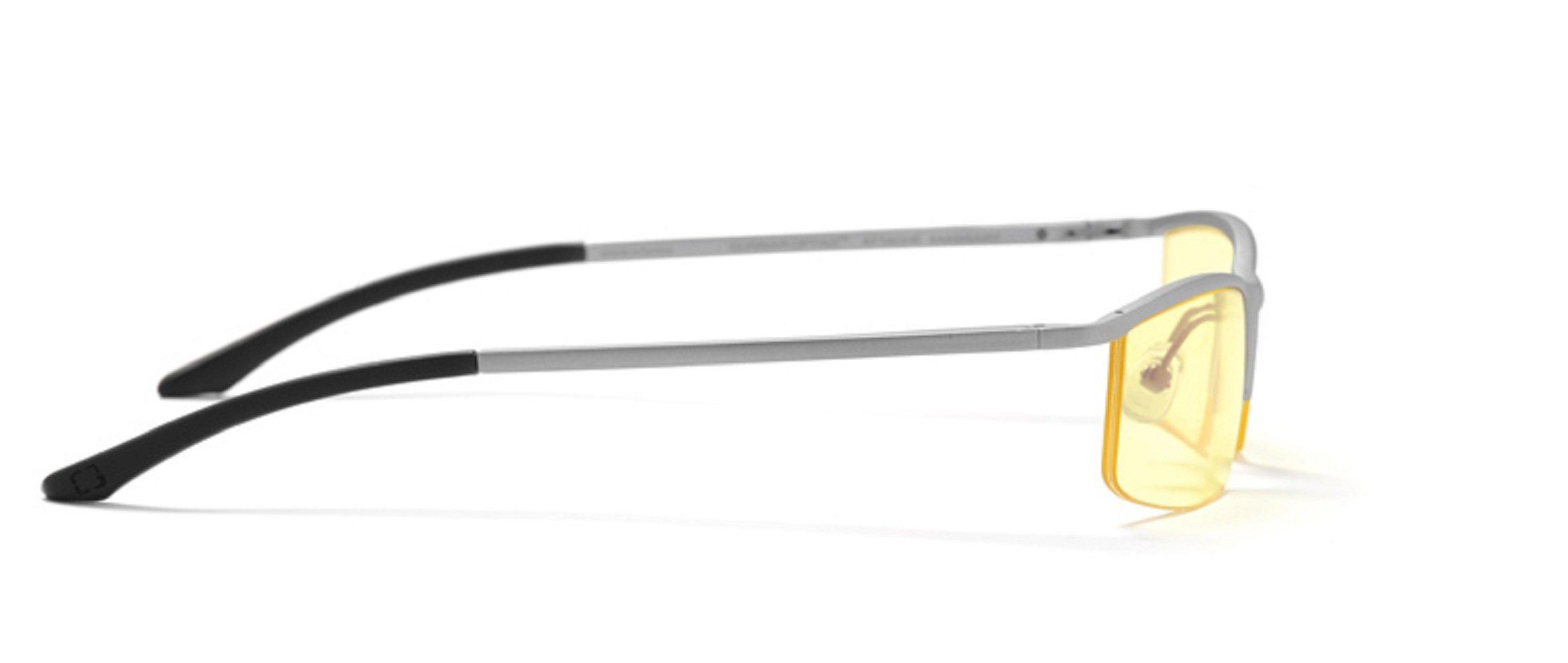 GUNNAR Gaming and Computer Eyewear/Emissary, Amber Tint - Patented Lens, Reduce Digital Eye Strain, Block 65% of Harmful Blue Light