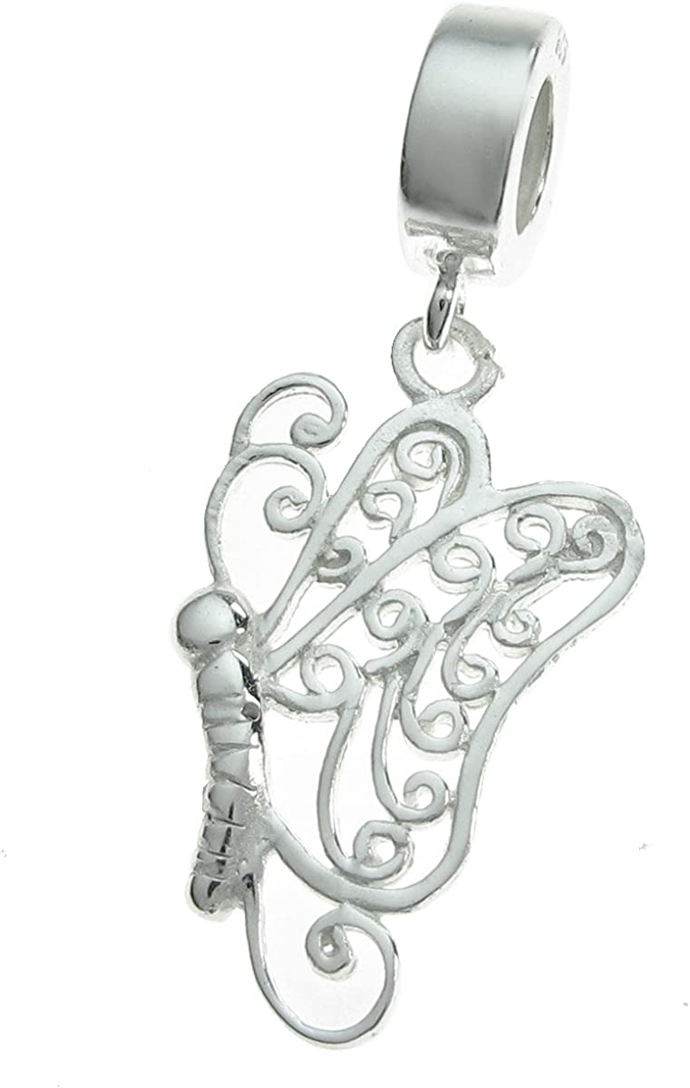 Fairy with a Heart Angel Girl Dangle Charm for European Bead Slide Bracelets Fashion Jewelry for Women Man