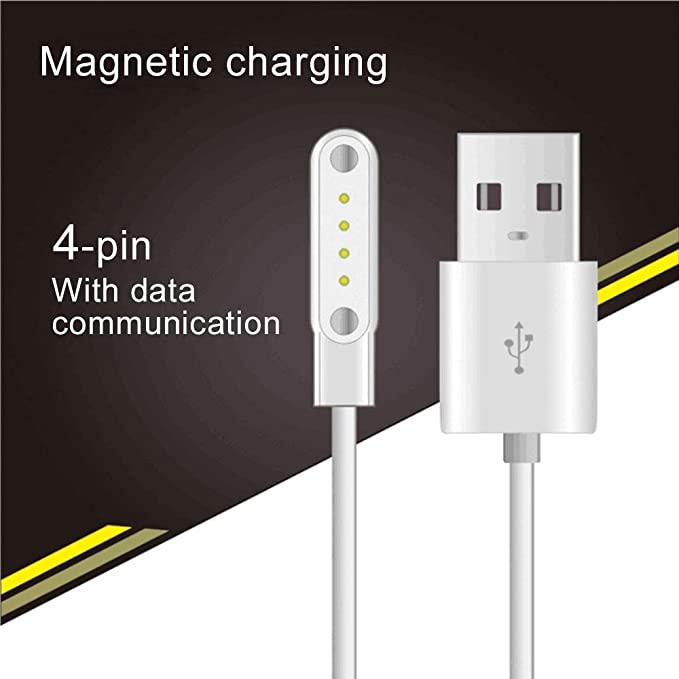 Amazon.com: Teepao Smart Watch Charger Cable for G3 GT88 KW08 KW18 Smart Watch 4 Pins Magnetic Suction Charger Magnetic Adsorption Charging Cable for ...