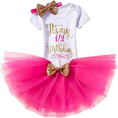 Its My 1st//2nd Birthday Cake Smash One Party Dress for Baby Girls Princess Shiny Sequin Bow Tutu Gown W//Headband Clothes Set