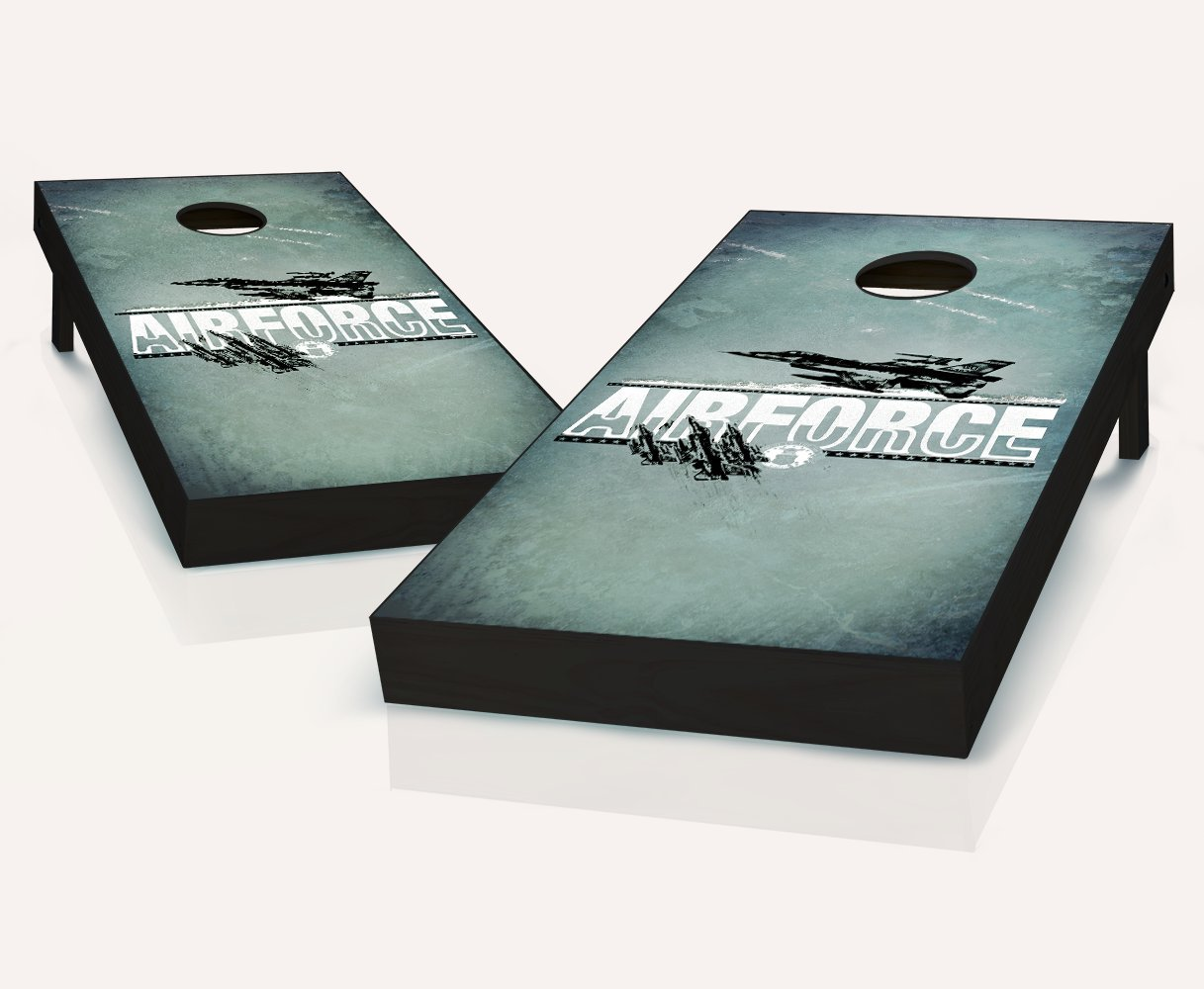 US Air ForceインプリントCornhole Boards withのセット8 Cornhole Bags B079Z9JPSV