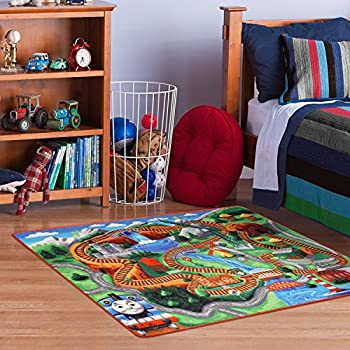 Lovely Thomas The Train Play Mat HD Digital Thomas And Friends Railway Road Rug  Kids Bedding Area