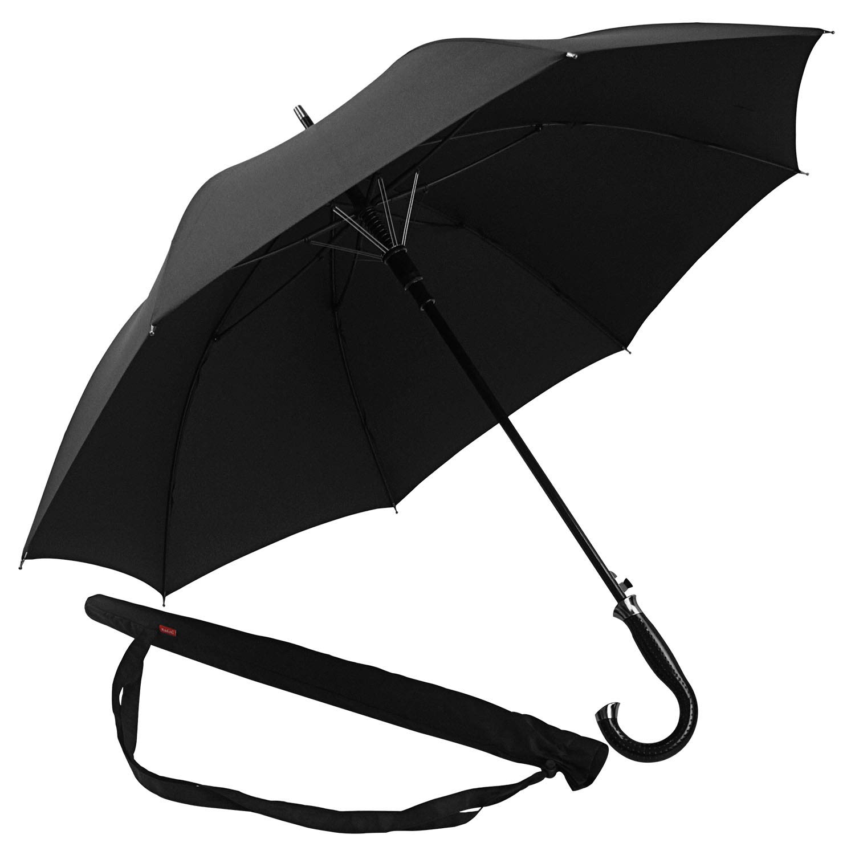 Lejorain Oversized Cane Classic Golf Umbrella/Automatic Open 50inch Coverage Windproof and Rainproof - Stick Umbrella with Stylish J Handle