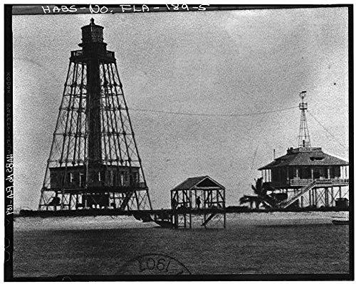 HistoricalFindings Photo: Sand Key Lighthouse,Sand Key,Key West,Monroe County,Florida,FL,HABS,4