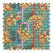 SheetWorld Ninja Turtles Power Fabric - By The Yard - 101.6 cm (44 inches)