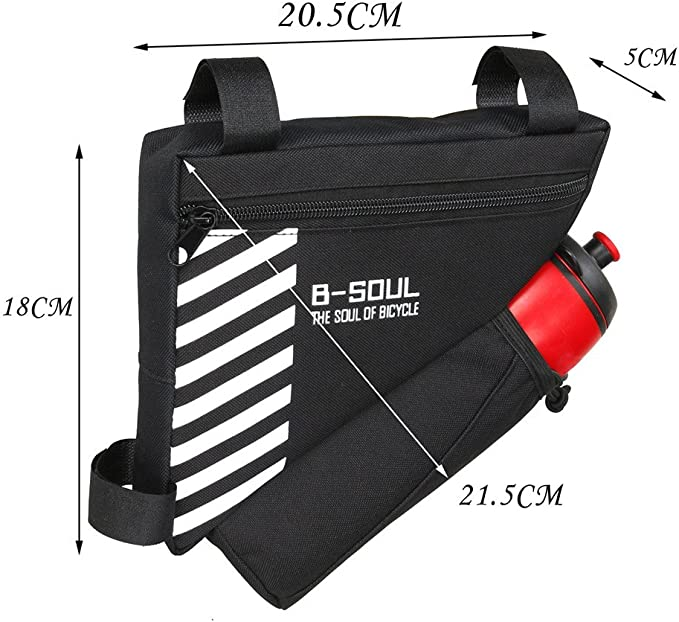 Bottle Pocket MTB Bicycle Cycling Triangle Front Frame Tube Bag Bike Pannier
